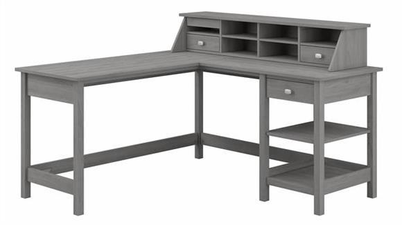 "Computer Desks Bush 60""W L-Shaped Computer Desk with Storage and Desktop Organizer"
