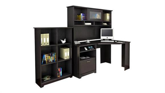 Corner Desks Bush Corner Desk with Hutch and Bookcase