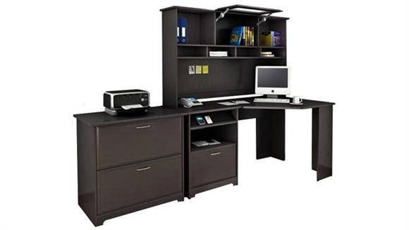 Corner Desks Bush Corner Desk with Hutch and Lateral File