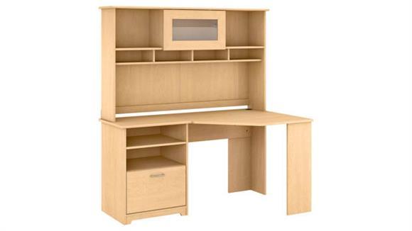 """Corner Desks Bush 60"""" W Corner Desk with Hutch"""