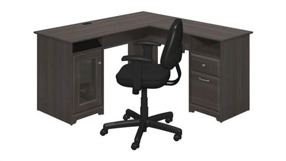 L Shaped Desks Bush L Shaped Desk and Office Chair