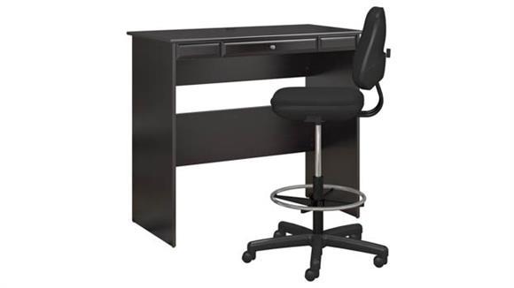 Standing Height Desks Bush Standing Desk with Adjustable Stool