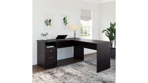 "L Shaped Desks Bush 60""W L Shaped Computer Desk with Drawers"