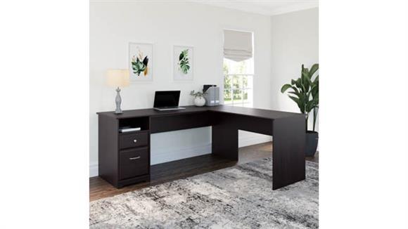 "L Shaped Desks Bush 72""W L Shaped Computer Desk with Drawers"