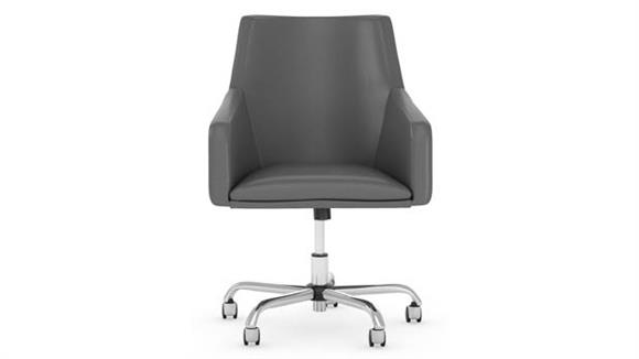 Office Chairs Bush Mid Back Leather Box Chair