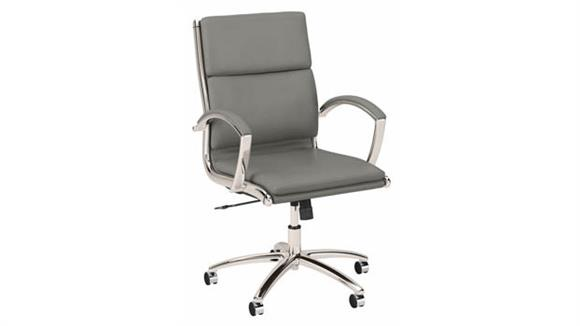 Office Chairs Bush Mid Back Leather Executive Office Chair