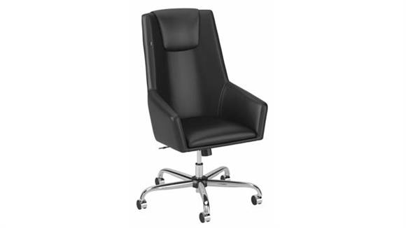 Office Chairs Bush High Back Leather Box Chair