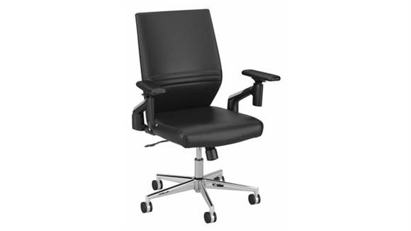 Office Chairs Bush Mid Back Leather Office Chair