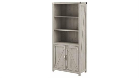 Bookcases Bush Tall 5 Shelf Bookcase with Doors