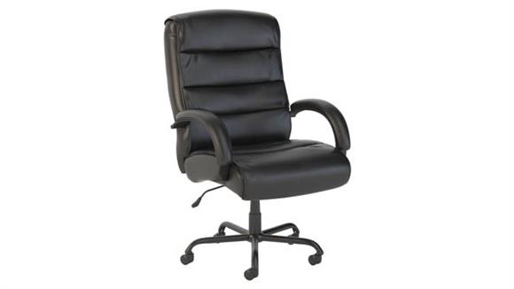 Big & Tall Bush Big and Tall High Back Leather Executive Office Chair