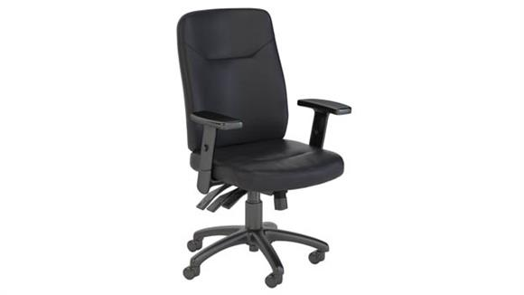 Office Chairs Bush High Back Multifunction Leather Executive Office Chair