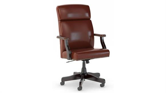 Office Chairs Bush State High Back Leather Executive Office Chair