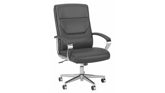 Office Chairs Bush High Back Leather Executive Office Chair