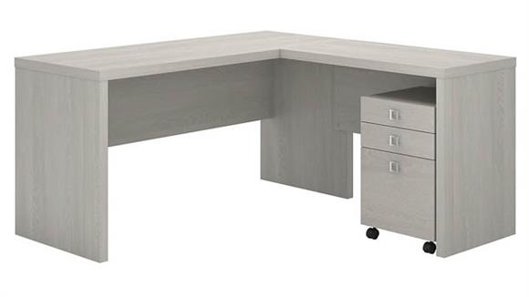 L Shaped Desks Bush L Shaped Desk with Mobile File Cabinet