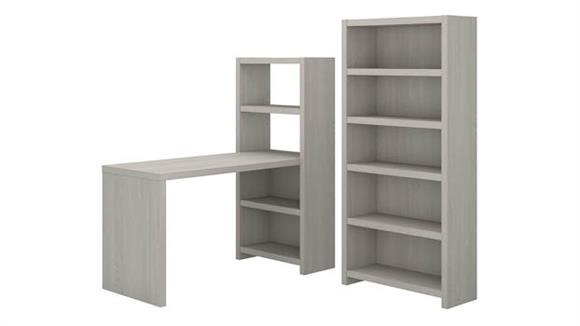 Computer Desks Bush Bookcase Desk with Storage