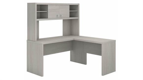 L Shaped Desks Bush L Shaped Desk with Hutch