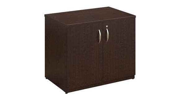 "Storage Cabinets Bush 36""W Storage Cabinet with Doors and Shelves"
