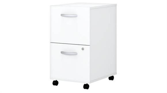 Mobile File Cabinets Bush 2 Drawer Mobile File Cabinet - Assembled