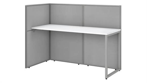 """Workstations & Cubicles Bush 60""""W Straight Desk Open Office with 45""""H Panels"""