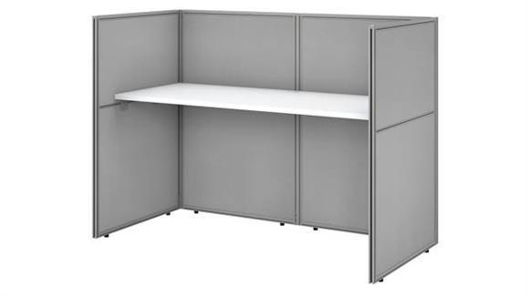 "Workstations & Cubicles Bush 60""W Cubicle Desk Workstation with 45""H Closed Panels"