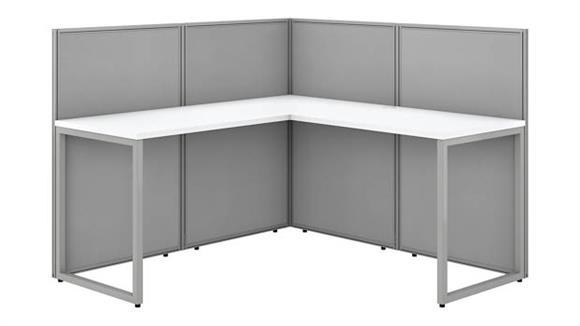 "Workstations & Cubicles Bush 60""W L-Desk Open Office with 45""Panels"