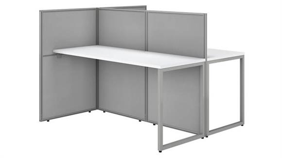 """Workstations & Cubicles Bush 60""""W 2 Person Straight Desk Open Office with 45""""H Panels"""