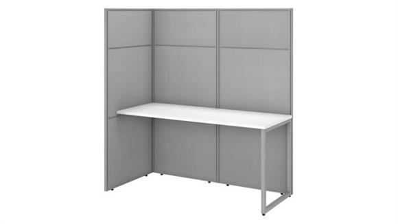 "Workstations & Cubicles Bush 60""W Cubicle Desk Workstation with 66""H Open Panels"