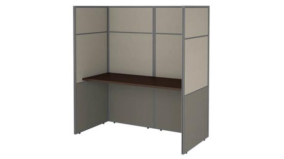 "Workstations & Cubicles Bush 60""W Cubicle Desk Workstation with 66""H Closed Panels"