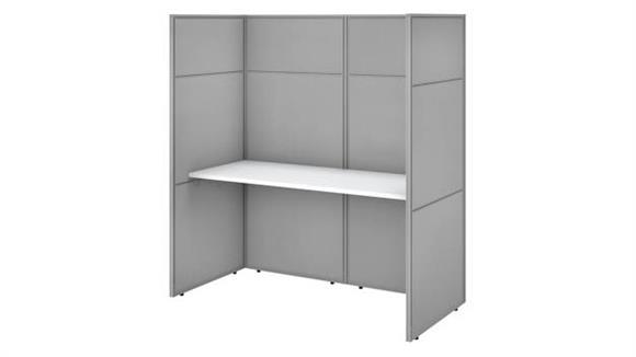 "Workstations & Cubicles Bush 60""W Cubicle Desk Workstation with 66""H Closed Panels"