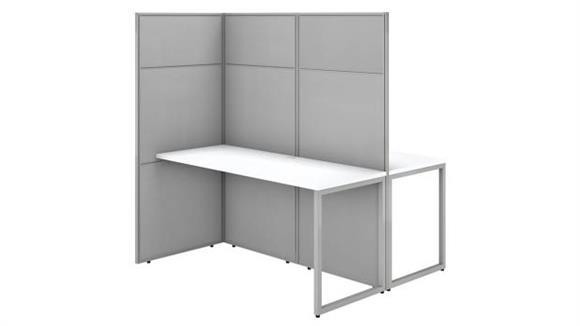 "Workstations & Cubicles Bush 60""W 2 Person Cubicle Desk Workstation with 66""H Panels"