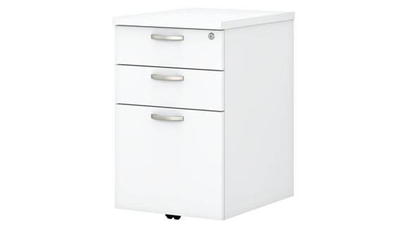 "Mobile File Cabinets Bush 16""W 3 Drawer Mobile File Cabinet"