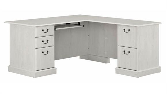 "L Shaped Desks Bush 66"" L-Shaped Executive Desk"