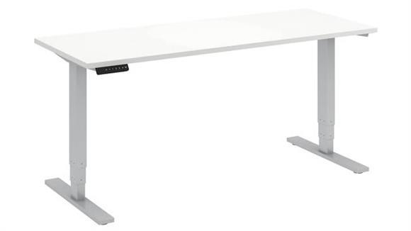 "Adjustable Height Desks & Tables Bush 60""W x 24""D Height Adjustable Standing Desk"