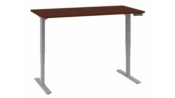 "Adjustable Height Desks & Tables Bush 60""W x 30""D Electric Height Adjustable Standing Desk"