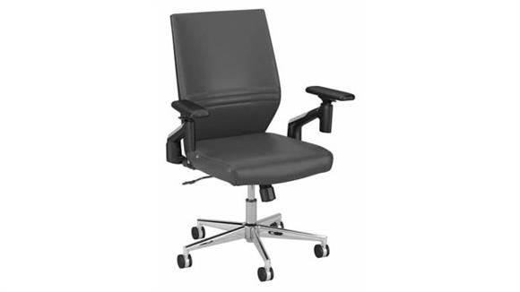 Office Chairs Bush Mid Back Leather Desk Chair
