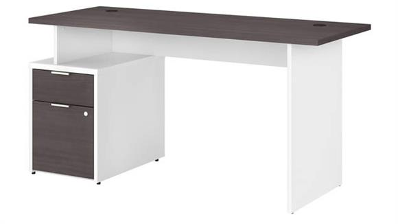 "Computer Desks Bush 60""W Desk with 2 Drawers"