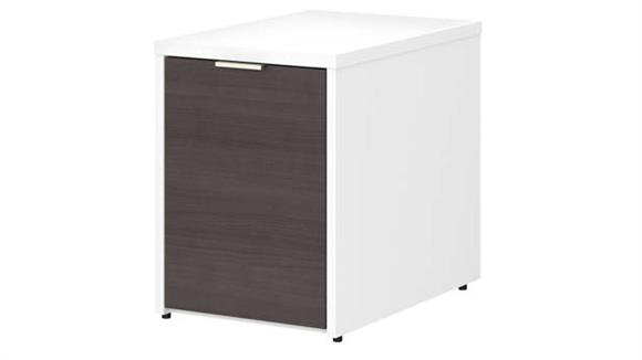 Storage Cabinets Bush Small Storage Cabinet with Door - Assembled