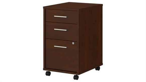 Mobile File Cabinets Bush 3 Drawer Mobile File Cabinet - Assembled