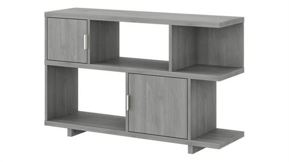 Bookcases Bush Low Geometric Bookcase with Doors