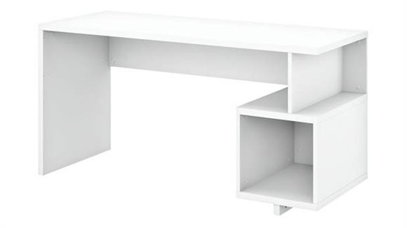 """Writing Desks Bush 60""""W Writing Desk with Storage Cubby"""