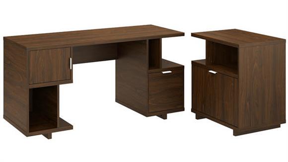 "Computer Desks Bush 60""W Computer Desk with Lateral File Cabinet"