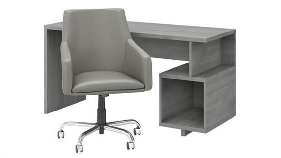 "Writing Desks Bush 60""W Writing Desk and Chair Set"