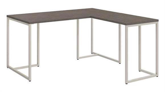 "L Shaped Desks Bush 60""W L-Shaped Desk with 30""W Return"