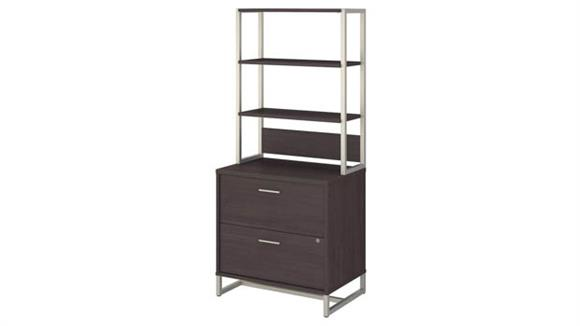 File Cabinets Lateral Bush Lateral File Cabinet with Hutch