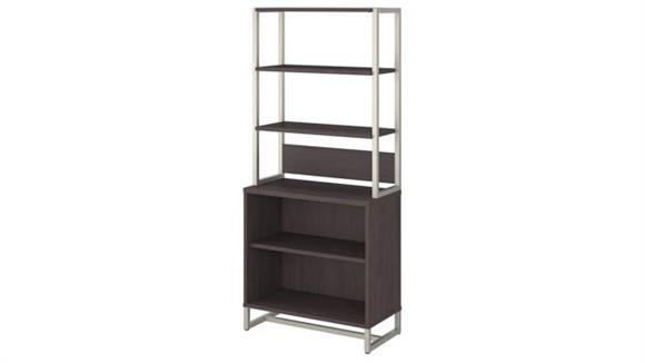 Bookcases Bush 2 Shelf Bookcase with Hutch