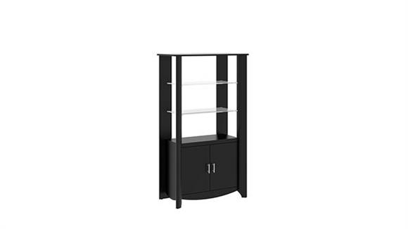 Bookcases Bush Tall Library Storage with Doors