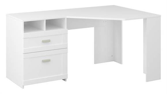 "Corner Desks Bush 60""W Reversible Corner Desk with Storage"