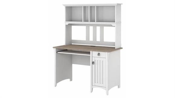 "Computer Desks Bush 48""W Computer Desk with Hutch"