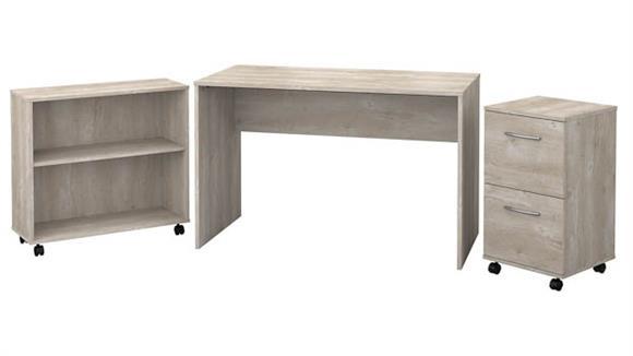 Computer Desks Bush Small Desk with Mobile File Cabinet and Bookcase