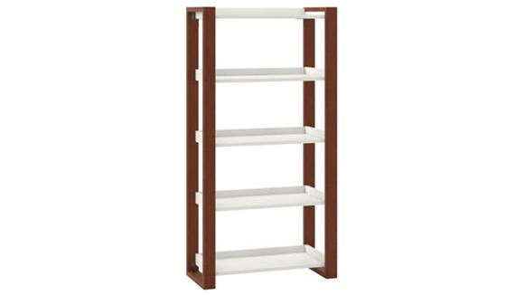 Bookcases Bush 5 Shelf Etagere Bookcase
